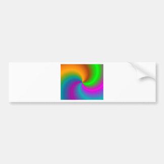 Multicolored - Multicoloured Bumper Sticker