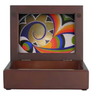 multicolored painted Easter egg, abstractly, close Memory Box