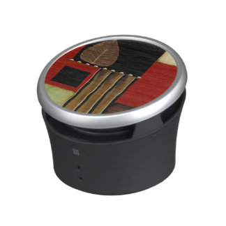 Multicolored Panel Painting with Brown Leaf Bluetooth Speaker