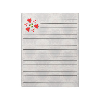 multicolored pattern note pad