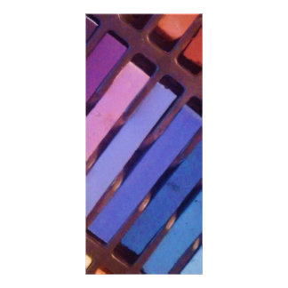 Multicolored Pattern Rack Card