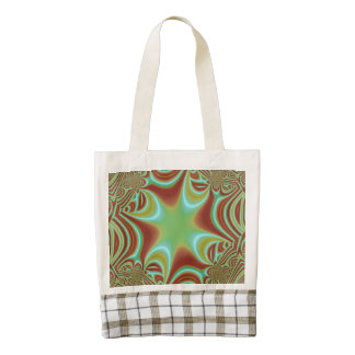 Multicolored pattern zazzle HEART tote bag