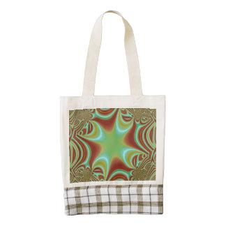 Multicolored pattern zazzle HEART tote bag