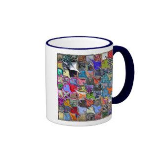 Multicolored Patterned Mug (both sides)
