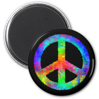 Multicolored Peace Sign Magnet