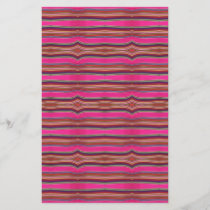 Multicolored Pink Orange Pattern Folk Art Mexico