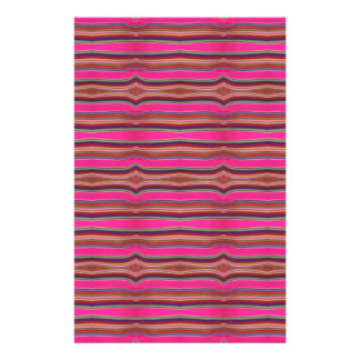 Multicolored Pink Orange Pattern Folk Art Mexico Stationery