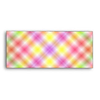 Multicolored Plaid Background Envelope