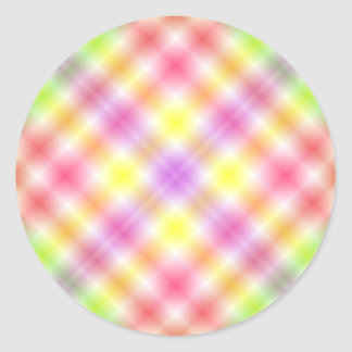 Multicolored Plaid Background Stickers