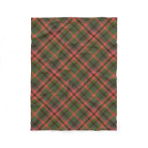 Multicolored Plaid Fleece Blanket