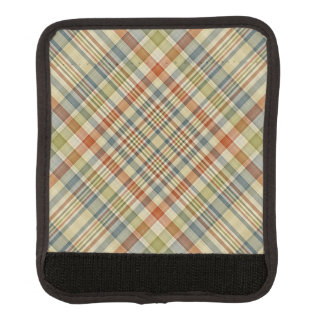 Multicolored plaid pattern handle wrap