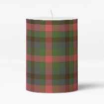 Multicolored Plaid Pillar Candle