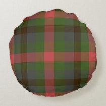 Multicolored Plaid Round Pillow