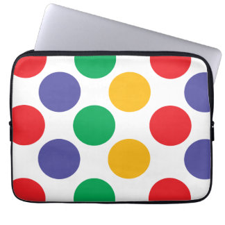 Multicolored Polka Dots Pattern Laptop Sleeve