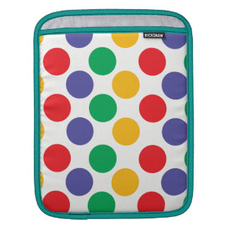 Multicolored Polka Dots Pattern Sleeve For iPads