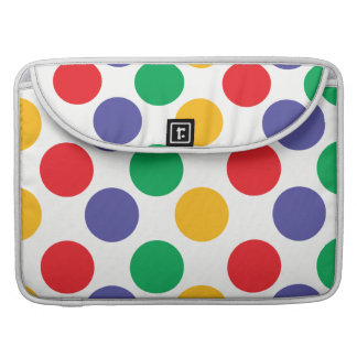 Multicolored Polka Dots Pattern Sleeve For MacBook Pro