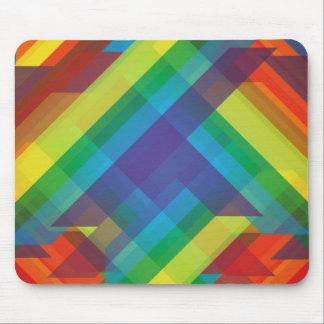 Multicolored Polygons Abstract Mouse Pads