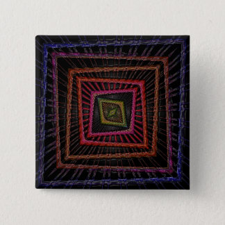 Multicolored psychedelic squares button