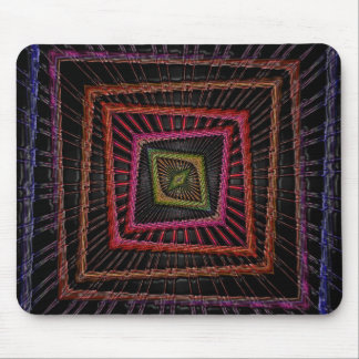 Multicolored psychedelic squares mouse pad