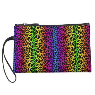 Multicolored purse wristlet