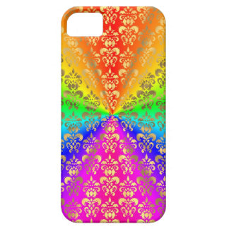 Multicolored rainbow colored damask iPhone 5 cases