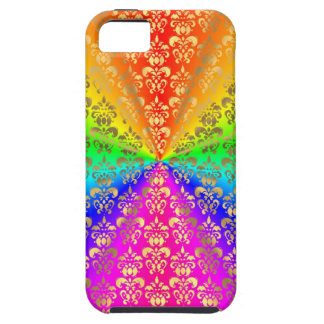 Multicolored rainbow coloured damask iPhone 5 cover