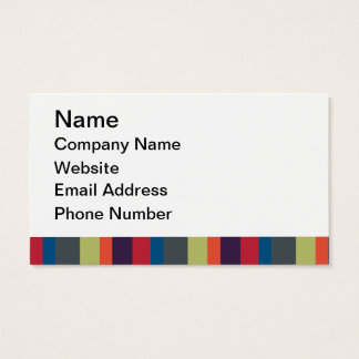 Multicolored Rainbow Stripes by Artinspired Business Card