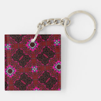 multicolored  random pattern keychain