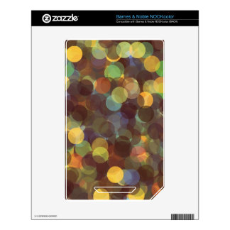 Multicolored Rays of Light Pattern Skin For The NOOK Color
