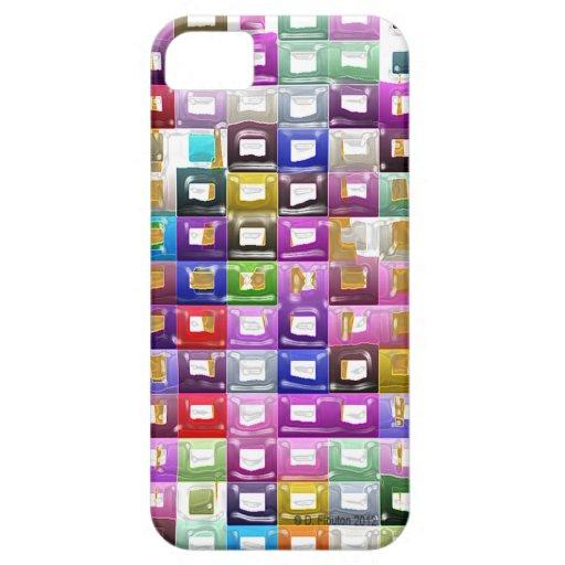 multi colored rectangles iPhone5 case