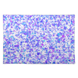 """""""Multicolored rectangles"""" table set bluish 50.8 x Cloth Placemat"""