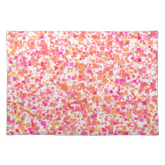 """""""Multicolored rectangles"""" table set reddish 50.8 x Placemat"""
