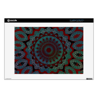"""Multicolored Red Mandala Skin Decal For 13"""" Laptop"""
