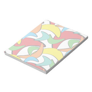 Multicolored Retro Boomerang Pattern Notepad
