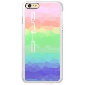 Multicolored Rock Candy Rainbow Light Colored Incipio Feather Shine iPhone 6 Plus Case