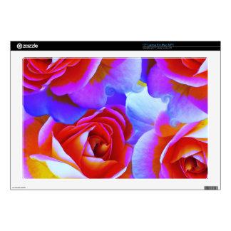 "Multicolored Rose 17"" Laptop Skin"