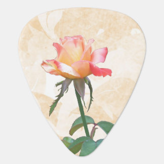 Multicolored Rose Guitar Pick