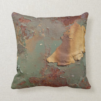 Multicolored Rust Corrosion Throw Pillow