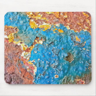 Multicolored Rusty Texture Mouse Pad