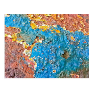Multicolored Rusty Texture Post Cards