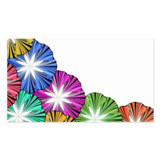 Multicolored sample business card