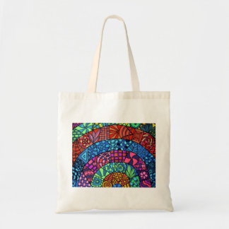 Multicolored sample carrying bag