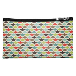 Multicolored Scalloped Makeup Bag