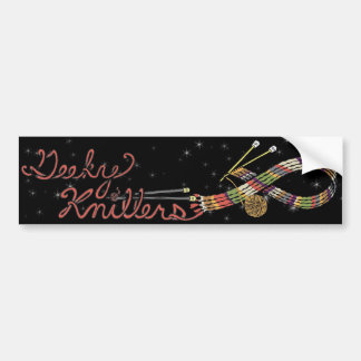 Multicolored Scarf Geeky Knitters Bumper Sticker