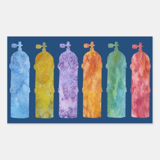Multicolored SCUBA Tanks Stickers
