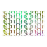 Multicolored Seahorse Pattern Business Card Templates