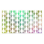 Multicolored Seahorse Pattern Business Cards