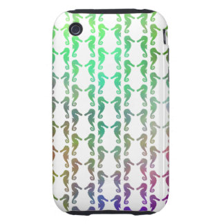 Multicolored Seahorse Pattern iPhone 3 Tough Case