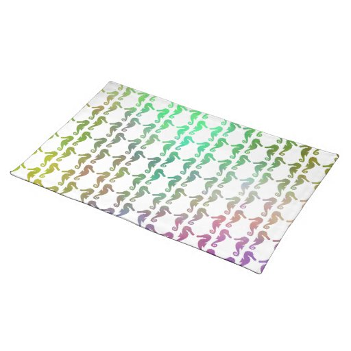 Multicolored Seahorse Pattern Place Mats