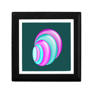 multicolored shell turquoise jewelry box